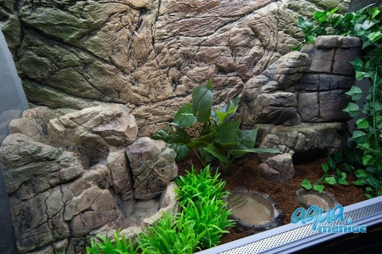 Mini terrarium waterfall for dragon gecko reptile decoration for Aquarium waterfall decoration