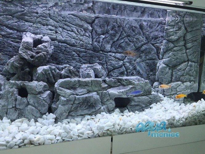 Aquarium mini beige cave rock hide for tropical fish tanks for Fish tank rock cleaner