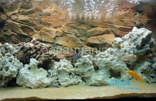 3D beige rock background 196x45cm
