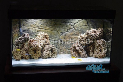 3D thin rock background 117x54cm