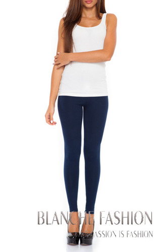 Cotton Leggings Navy Blue one size