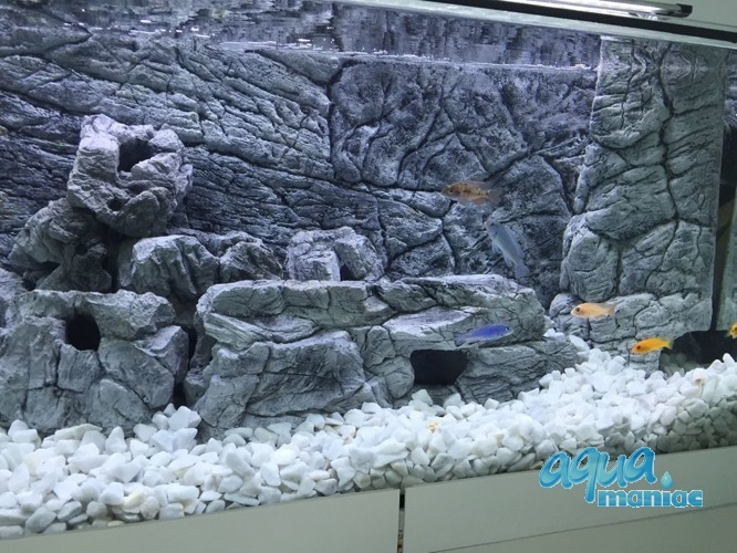 Fluval Vicenza 180 thin grey rock background 88x46 cm 2 sections