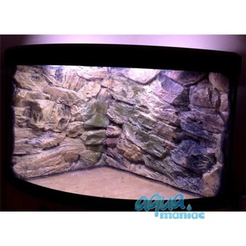 JUWEL Trigon 350 3D beige rock background in 2 sections