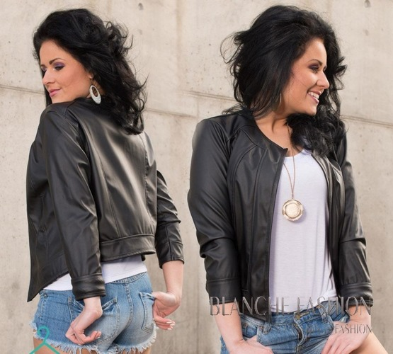 Ladies elegant sexy jacket Eco Leather size 8