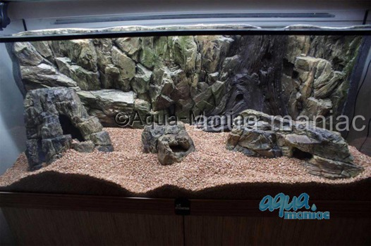 Medium beige aquarium rock