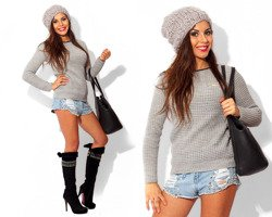 Grey Jumper Cardigan - One size