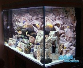 JUWEL Vision 180 3D rock background 90x45cm 2 sections