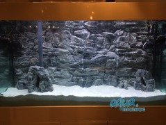 Juwel Vision 450 Grey Rock Background  146x54cm in 3 sections